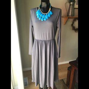 🌸NWOT XL long sleeve slate color midi dress🌸